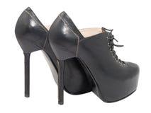 Schwarze Schuhe. lizenzfreies stockbild