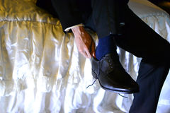 Schwarze Schuhe Lizenzfreie Stockfotografie