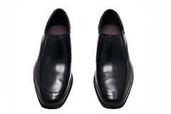 Schwarze Schuhe s des Mannes ' Lizenzfreie Stockfotos