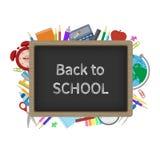 Schwarze Schulbehörde mit einer Aufschrift in der Kreide Lizenzfreie Stockbilder