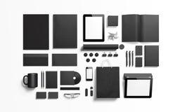 Schwarze schwarze Brandingelemente, zum Ihres Designs zu ersetzen stock abbildung