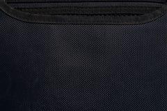 Schwarze Segeltuchtaschenbeschaffenheit Stockbild