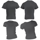 Schwarze Shirtauslegungschablone Stockbild