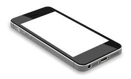 Schwarze Smartphones mit dem leeren Bildschirm, lokalisiert auf weißem Hintergrund Lizenzfreie Stockfotografie