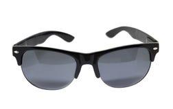 Schwarze Sonnenbrillen lokalisiert stockfotografie