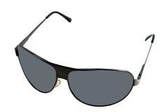 Schwarze Sonnenbrillen mit grauen Gläsern. Lizenzfreies Stockfoto