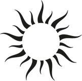 Schwarze Sonnengrenze Stockbild