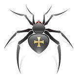 Schwarze Spinne Lizenzfreie Stockbilder