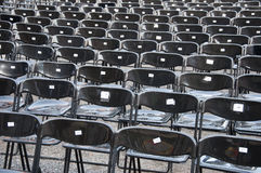 Schwarze Stühle Stockfotografie