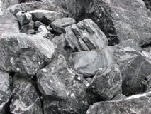 Schwarze Steine Lizenzfreie Stockbilder