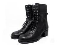 Schwarze Stiefel Lizenzfreies Stockfoto