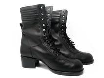 Schwarze Stiefel Stockfoto