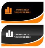 Schwarze stilvolle Visitenkarten Stockbild