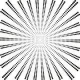 Schwarze Strahlen des Hintergrundes von den Bällen auf einem Weiß stock abbildung