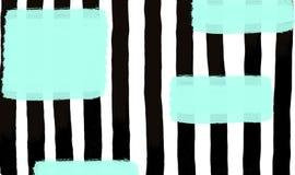 Schwarze Streifen mit blauem Fleckhintergrund stock abbildung