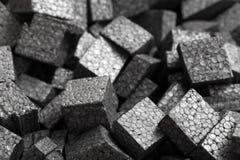 Schwarze Styroschaumkugeln der Nahaufnahme Lizenzfreies Stockfoto