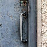 Schwarze Tür Stockfoto