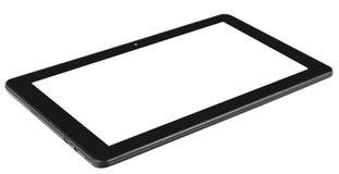 Schwarze Tablette lokalisierter Hintergrund und Schirm lizenzfreie stockfotos