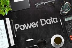 Schwarze Tafel mit Energie-Daten-Konzept Wiedergabe 3d Stockbilder
