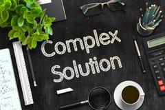Schwarze Tafel mit komplexer Lösung Wiedergabe 3d lizenzfreie stockbilder
