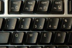 Schwarze Tastatur Stockfotografie