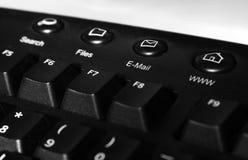 Schwarze Tastatur lizenzfreies stockbild