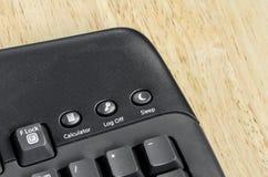 Schwarze Tastatur der Nahaufnahme Stockfoto