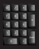 Schwarze Tastatur Vektor Lizenzfreie Stockfotografie