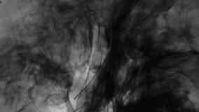 Schwarze Tinte Misch im Wasser stock footage