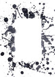 Schwarze Tintenpunkte Stockfotos