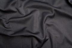 Schwarze Tuchbeschaffenheit Stockbilder