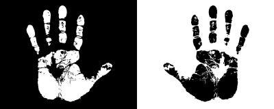Schwarze u. weiße Hände Lizenzfreies Stockbild