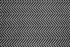 Schwarze u. weiße Leinenstruktur Stockfotografie