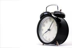 Schwarze Uhr der Weinlese, acht Stunden 5 Minuten Lizenzfreies Stockfoto