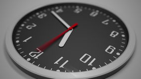 Schwarze Uhrskala-Zeitspanne Gesamtlänge 4k Erwarten des Konzeptes stock footage
