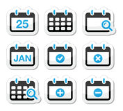 Kalendertagikonen eingestellt Stockbild