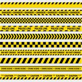 Schwarze und gelbe Streifen lizenzfreie abbildung