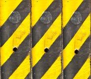 Schwarze und gelbe Zeile Lizenzfreies Stockfoto