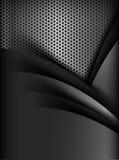 Schwarze und graue Schichtelement-Hintergrundbeschaffenheit des dunklen Chroms stock abbildung