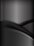 Schwarze und graue Schichtelement-Hintergrundbeschaffenheit des dunklen Chroms lizenzfreie abbildung