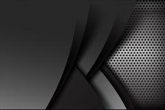 Schwarze und graue Schichtelement-Hintergrundbeschaffenheit des dunklen Chroms vektor abbildung
