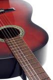 Schwarze und rote klassische Gitarre Stockfoto