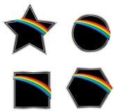 Schwarze und silberne Regenbogen-Ikonen Stockbilder