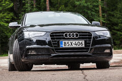 Schwarze Verschönerung Audi A5 2 0 Modell TDI 2012 Stockbild