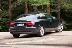 Schwarze Verschönerung Audi A5 2 0 TDI 2012 Stockfoto