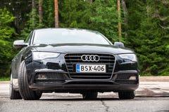 Schwarze Verschönerung Audi A5 2 0 TDI 2012 Modelljahr Stockbild
