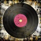 Schwarze Vinylaufzeichnung Lizenzfreies Stockbild