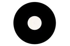 Schwarze Vinylaufzeichnung auf einem weißen Hintergrund Lizenzfreie Abbildung