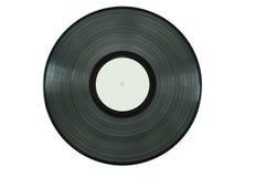 Schwarze Vinylplatte gegen weißen Hintergrund Lizenzfreie Stockfotos