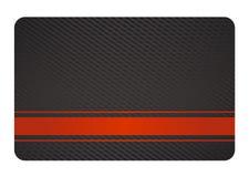 Schwarze Visitenkarte mit Beschaffenheit und rotem Kennsatz Stockfoto